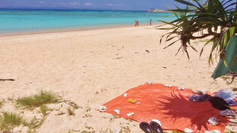 真夏の昼の出来事、波照間島でウミヘビに追われる